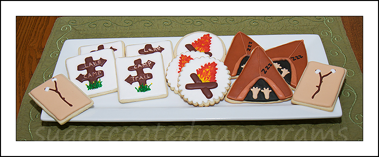 Camping cookie platter
